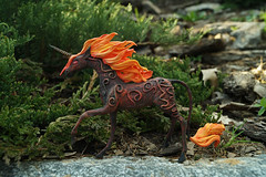 fireun2 (rkardragon) Tags: horse clay etsy unicorn clayfigure unicornfigure