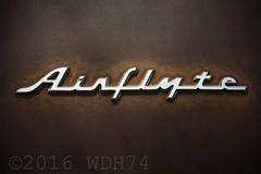 Airflyte (William 74) Tags: vintage logo rust classiccar rusty retro chrome badge nash script patina airflyte