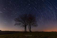 Stars Vortex (Mathieu Descombes Photographie) Tags: light sky vortex tree night stars champs ciel galaxy fields astronomy nuit arbre nocturne galaxie toile astronomie circumpolar circumpolaire