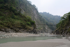 Suspension Bridge (Bob Hawley) Tags: mountains forest outdoors asia taiwan views valleys suspensionbridges nikon1755f28 yunlincounty nikond7100 qingshuiriver