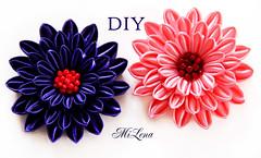 DIY Kanzashi flower (MiLena_Lena) Tags: kanzashi kanzashiflowers diykanzashi