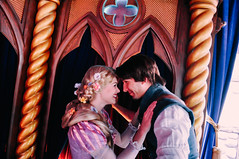 Rapunzel and Flynn (dolewhip) Tags: disneyland disney rapunzel fantasyland tangled royaltheatre fantasyfaire flynnrider