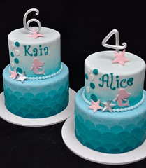 Mermaid matching birthday cakes (jennywenny) Tags: birthday cake mermaid