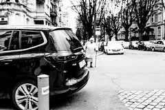 who is behind the car (tamoko1121) Tags: street people urban blackandwhite bw white black monochrome fuji candid x pro fujifilm banal streetphotos streetshot xf xseries xpro1 xmount fujifilmxpro1 xf23