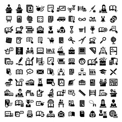 big education vector icons set (theSocialOutlier) Tags: school people black college sign set pen pencil computer notebook glasses book design student education university hand diploma classroom symbol display laptop library board graduation icon bookshelf read collection study seminar cap button learning knowledge mathematics teaching write graduate lecture studying vector blackboard educate learn pictogram isolated element textbook middleschool