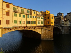 Ponte Vecchio (Old Bridge) in Florence (chibeba) Tags: city bridge urban italy architecture florence spring europe april pontevecchio oldbridge 2016 citybreak