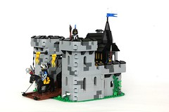 Black Falcon Fortress Update (soccersnyderi) Tags: roof black castle classic wall set model lego interior working vine medieval tudor creation falcon drawbridge update fortress crusader gatehouse moc hinging