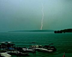 (crashcorroo) Tags: lake pier boat dock turquoise lightning beforethestorm calmbeforethestorm canonef28135mmf3556isusm thecalmbeforethestorm canoneos40d pewaukeelakewi aroundourlake