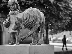 Hanau (tfading) Tags: street urban blackandwhite art monochrome wolf kirche hanau statur gebrdergrimm