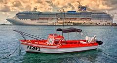 Aruba (Brent Mooers Photography) Tags: coral boat fishing ship princess aruba cruiseship coralprincess