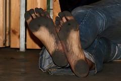 dirty party feet 552 (dirtyfeet6811) Tags: feet barefoot soles dirtyfeet partyfeet dirtysoles blacksoles