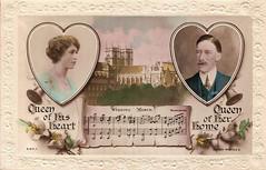 Royal Wedding (Leonard Bentley) Tags: uk london westminsterabbey queenmary 1922 royalwedding kinggeorgev rotaryphoto canonrow maryprincessroyal cannonrow viscountlascelles lordandladyharewood rajarbromidecard