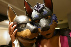 DSC05902 (Kory / Leo Nardo) Tags: puppy leo ears rubber pierce doberman earrings pup kory dobi rubberdawg pupplay
