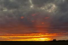Kansas Sunset, 1-2-3 in line (thefisch1) Tags: pink blue sunset red sky cloud interesting intense nikon colorful calendar outdoor horizon gray hills kansas nikkor flint oogle d700