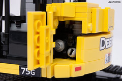 09_engine (LegoMathijs) Tags: road scale yellow john chains team model lego display technic dozer blade snot deere compact excavator moc 75g foitsop decalls legomathijs