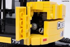 09_engine (LegoMathijs) Tags: road scale yellow john chains team model lego display technic dozer blade snot deere compact excavator moc 75g foitsop decalls legomathijs