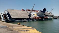 Panagia Tinou (2) half sunk (spicros78) Tags: street mobile ferry dock ship sink piraeus halfsunkship