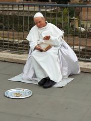Giovanni Paolo II (chiarafratocchi) Tags: pope rome roma strada italia vaticano papa foriimperiali maschere giovannipaoloii giovannipaolo