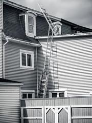 Urbanscape 2 #  54  ... ; (c)rebfoto (rebfoto ....) Tags: windows blackandwhite bw building cityscape citylife ladder urbanscape rebfoto