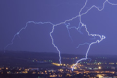 Foudre sur Montluon (suarez.christophe) Tags: city storm night lightning nuit ville stormchasing clair foudre montluon clairs