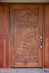 Hand-carved front door