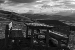 Picnic (DarioMarulli) Tags: bw panorama mountain montagne table landscape nikon picnic natura tavolo biancoenero abruzzo laquila panca parconazionaledelgransasso d3200 spaziaperti nikonclubit