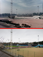 Crystal Palace athletics stadium (World of Tim) Tags: road camera new old uk portrait england house london history film sports club digital canon photo tim kent maple track december photographer flat crystal britain stadium south centre united great kingdom palace junction powershot historic arena flats photograph gb borough block then olympic now comparison dover rd rotary compact 1964 saunders bromley penge anerley 2015 se20 s120
