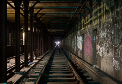 Inkhead (AeroFennec) Tags: nyc underground subway graffiti tunnel inkhead