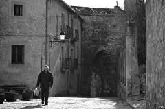 Medieval walk (MichaelRojas) Tags: street bw spain walk medieval bn segovia streetphoto sepulveda castillayleon