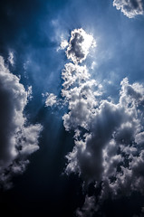 Descending Angel (Tim Camin) Tags: blue light sky cloud sun abstract water clouds licht nikon wasser underwater himmel wolke wolken sunny blau sonne cloudscape abstrakt unterwasser d5100