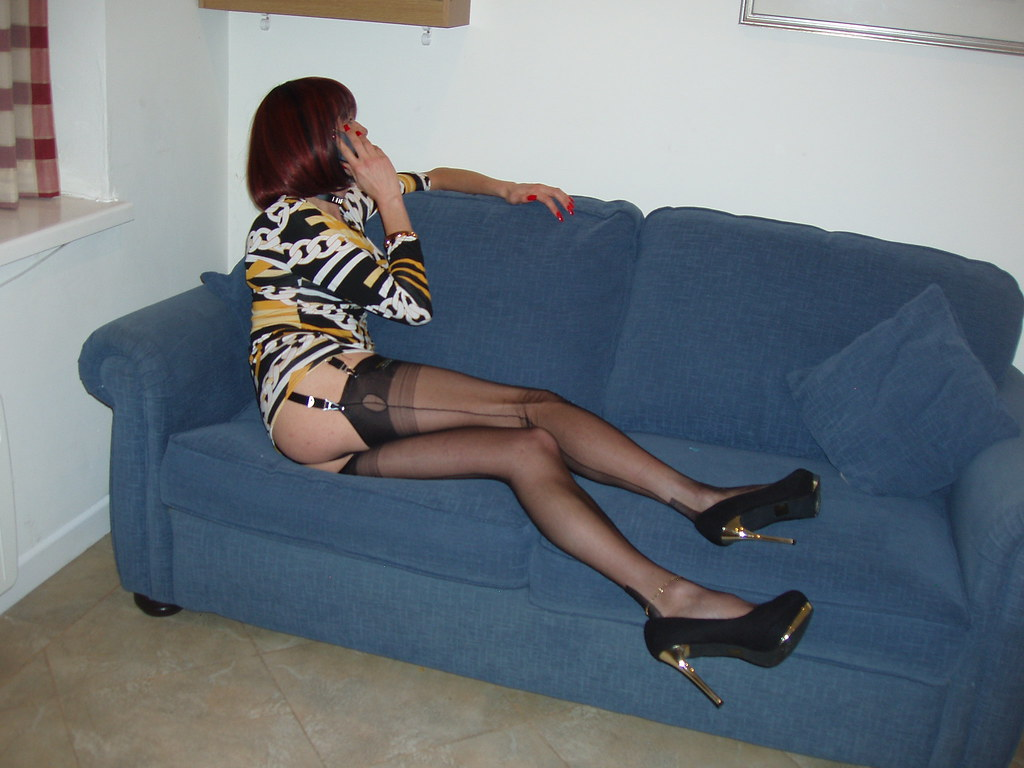 Transvestite stocking sex