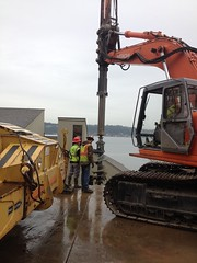 Sand Point Way NE Retaining Wall Replacement Project (Seattle Department of Transportation) Tags: seattle wall fix project way point sand replacement ne equipment transportation drill retaining sdot