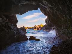 Tunnel to Paradise (Sairam Sundaresan) Tags: ocean christmas sunset black canon landscape blacksand volcano hawaii lava waves maui newyear cave bigisland sairam sundaresan canon5dmarkiii sairamsundaresan