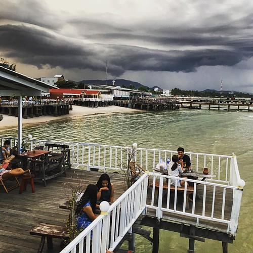 Heavy #cloudporn over #huahin #thailand