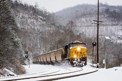Downgrade at Habersham (Peyton Gupton) Tags: snow train tennessee duff morley csx habersham csxt chaska