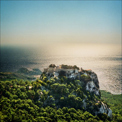 The castle of monolithos (Katarina 2353) Tags: sunset summer film landscape island nikon greece rhodes rodhos katarinastefanovic katarina2353