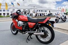 Moto Guzzi (ajspaldo) Tags: australia motorcycle australiaday motoguzzi act oldparliamenthouse ajs tonyspalding ajspaldo sonya6000