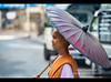 Nun on her alms rounds, Yangon, Myanmar (jitenshaman) Tags: travel umbrella asian religious women asia sister robe yangon burma buddhist religion shaved bald buddhism nun nuns parasol destination merit myanmar burmese shaven rangoon alms worldlocations