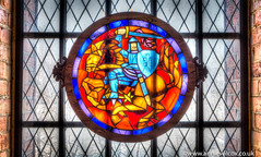 Trakai Island Castle Stained Glass (anniew69) Tags: building castle window fuji stainedglass palace knight hdr highdynamicrange lithuania vilnius hdri edifice edifices lietuva photomatix cityphotography trakaiislandcastle kstutis photographytechnique grandduchyoflithuania traksalospilis lakegalv vytautasthegreat anniewilcox wwwanniewilcoxcouk fujifilmx100t fujix100t anniew69