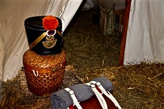 Basket Bed Roll and Tent - Military Fest - Saint Charles IL (Meridith112) Tags: winter history nikon basket military tent convention historical hay kanecounty february fest reenactors saintcharles reenact pretend reenacting 2016 bedroll pheasantrun megacenter nikon2485 militaryfest nikond610