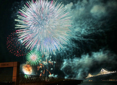 Super Bowl City Fireworks (evie22) Tags: sanfrancisco party sports canon fun football fireworks outdoor nfl celebration macys superbowl thebay americanfootball 2016 sb50 canon7dmarkii superbowlcity superbowl50 superbowlfifty