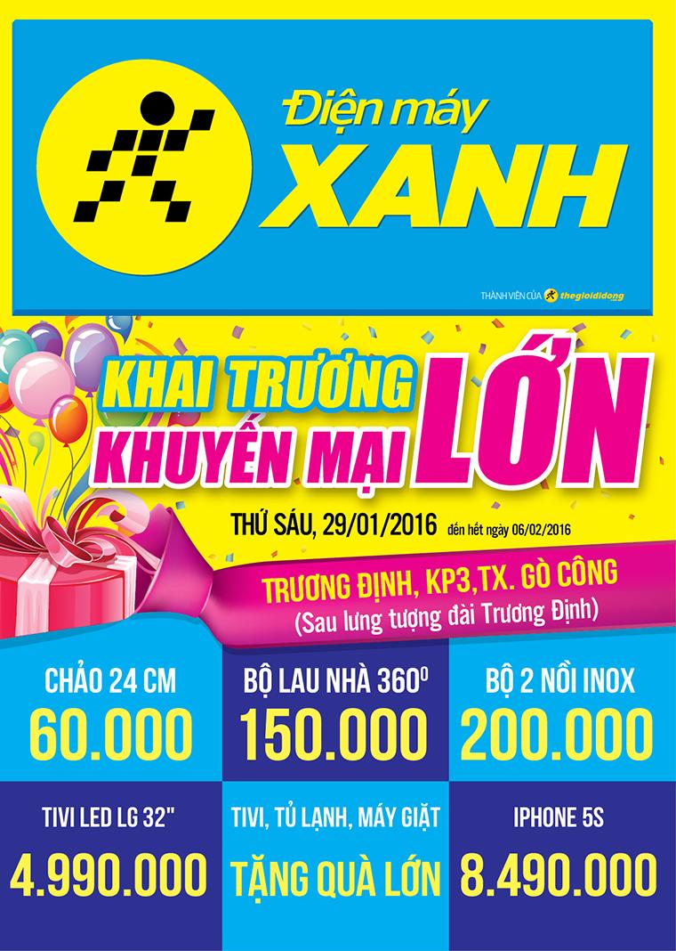 Khai trương siêu thị Điện máy XANH Tiền Giang Gò Công