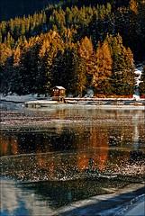 House on the lake (Katarina 2353) Tags: winter house holiday film ice landscape nikon davos davosersee katarinastefanovic katarina2353