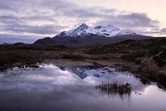 Cuillins (Manadh) Tags: sunset cloud mountain reflection skye water landscape puddle scotland isleofskye pentax sigma cuillins k3 manadh