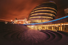 It's cold and windy outside... (Samy.Jourdan) Tags: city uk winter summer england building london thames architecture night canon angle wind walk wide sigma tokina 5d vibes scape manfrotto staris cityt