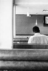 Thinking (Trcio Campelo) Tags: street portrait blackandwhite bw film analog 35mm streetphotography pb ilfordhp5 35mmfilm ilford filmphotography streetphotographer filmisnotdead yashicaelectro35gt buyfilmnotmegapixels