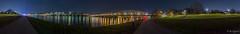 Linz Panorama (rio.gappmaier) Tags: bridge skyline night linz austria sterreich nacht sony danube obersterreich donau eisenbahnbrcke brcken lentos upperaustria steelcity arselectronicacenter donaulnde stahlstadt sonyalpha6000