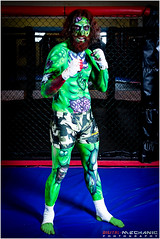 Zombie pop art - Artist : Sarah Smith, Model : Karsten M Lenjoint (Digital-Mechanic.com) Tags: green art fighter zombie cage pop bodypaint boxer octagon mma zombiepopartartistsarahsmith modelkarstenmlenjoint
