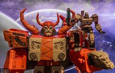Unicron & Megatron (MadMartigen) Tags: toy actionfigure transformers takara megatron decepticon unicron revoltech