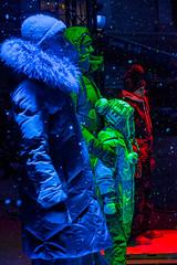 Blue, Green And Red (pni) Tags: park snowflake blue light red people woman snow green suomi finland person kid helsinki child being human helsingfors skrubu pni pekkanikrus luxhelsinki